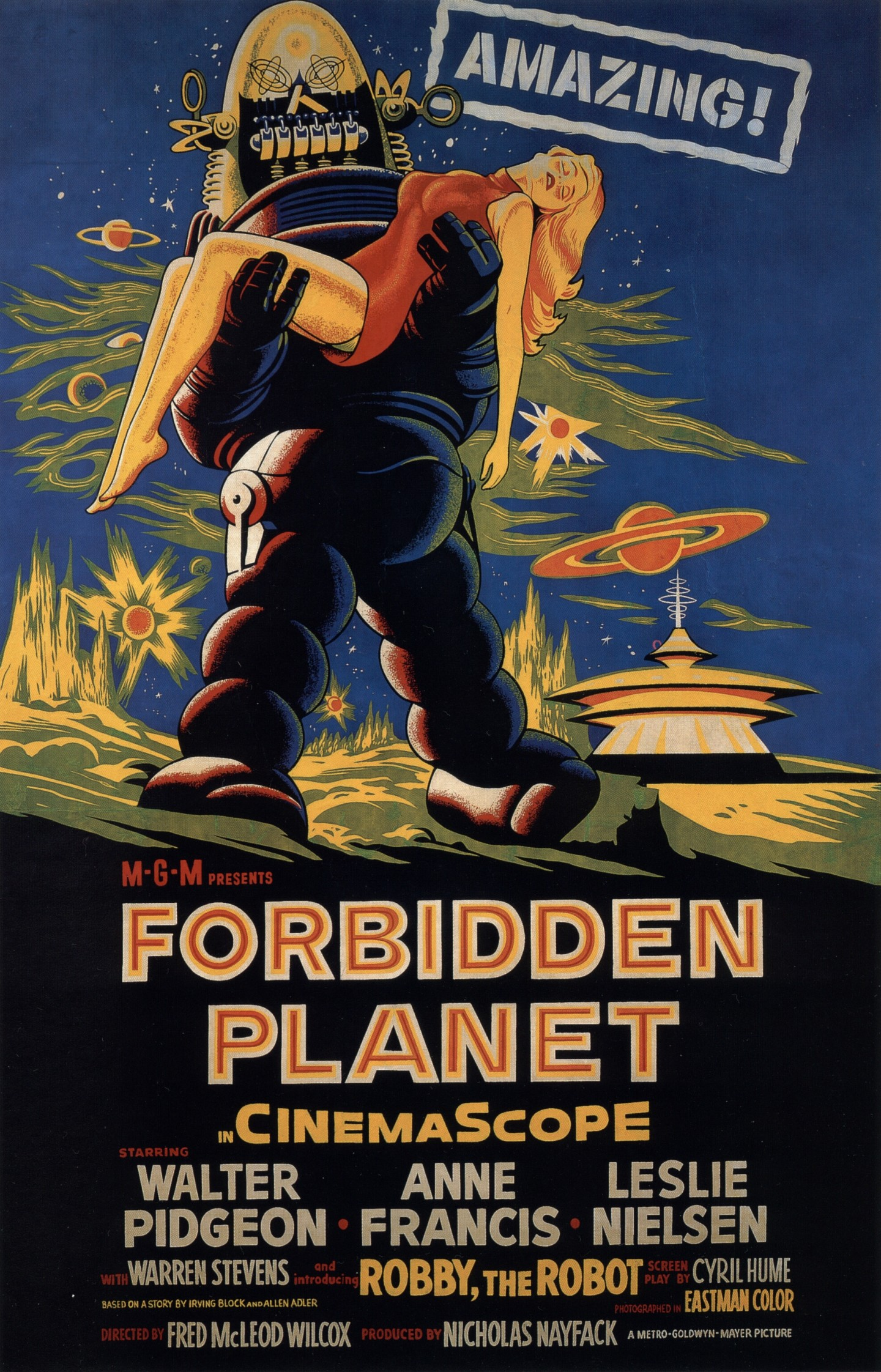 Heather does Forbidden Planet | Mutant Reviewers Forbidden Planet 1956 Poster