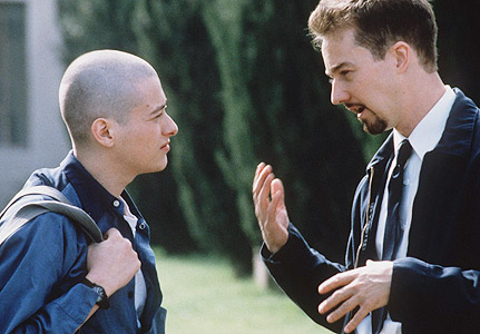 movie review for american history x Movie review: despite good intentions, 'american history x' struggles to get   however, the fuss turns out to be more original than the movie.
