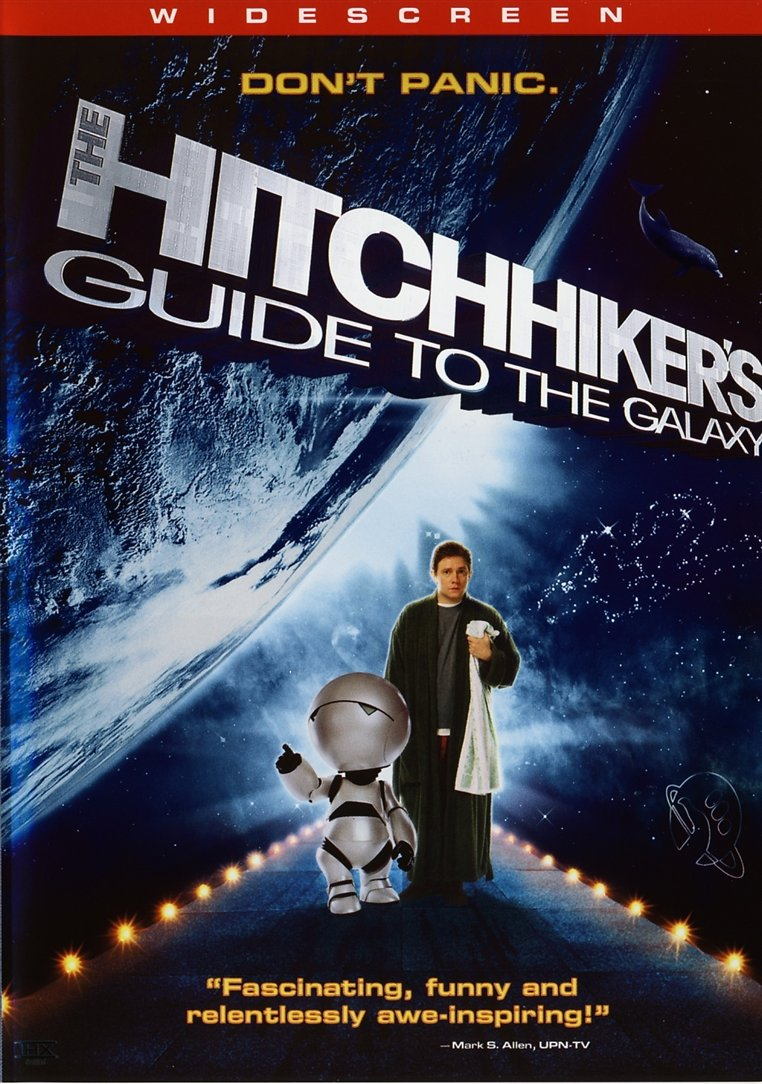 hitchhikers guide to the galaxy and Then he came upon the hitchhiker's guide to the galaxy, the interstellar romp   ['hitchhiker's guide' is] quite positive i think, he said, and it.