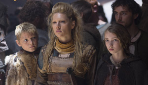 Vikings - Lagertha, kids, and Athelstan