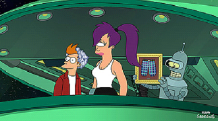 Okay, the secret's out- Leela and Bender hook up. Damn, I still can't believe that.